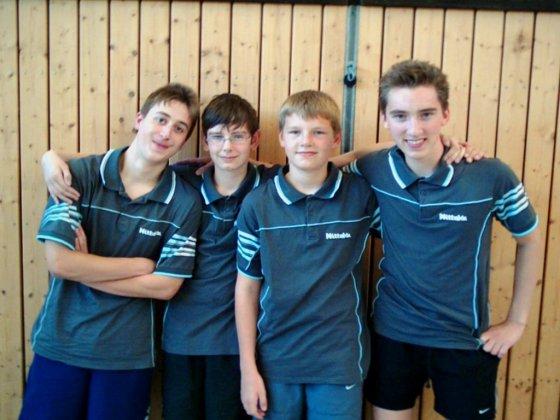 v.l.n.r.: Andreas Hochrein, Marcel Mack, Marcel Weingandt, Florian Weingandt