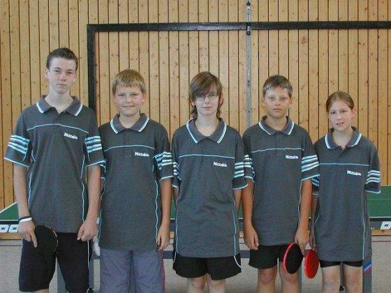 v.l.n.r.: Daniel Schwingenschlögl, Marcel Weingandt, Marcel Mack, Matthis Katzmaier, Lisa Leix