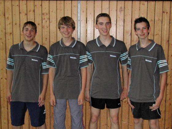 v.l.n.r.: Anreas Hochrein, Marcel Weingandt, Florian Weingandt, Marcel Mack