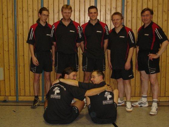 oben v.l.n.r.: Jochen Daam, Detlef Strotmann, Christian Schnattinger, Martin Lichtblau, Josef Huber<br /> unten v.l.n.r.: Thomas Schnattinger, G&uuml;nter Herbrich